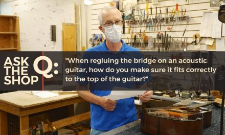 Ask The Shop: When re-gluing a bridge to a guitar top, how do you make sure it fits correctly?