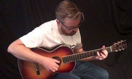 Flammang Sunburst Parlor Guitar at Guitar Gallery