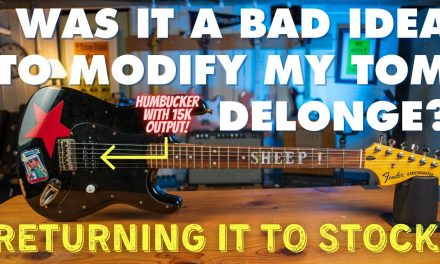 Was it dumb to mod my Tom Delonge Strat?! Returning it to stock with a Seymour Duncan Invader!
