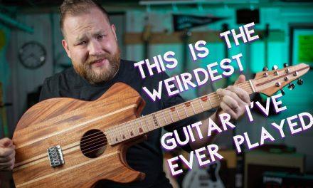 The weirdest guitar I've ever played. Featuring @SCAR-MY-GUITAR