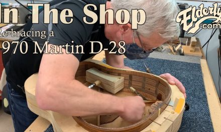 In The Shop: Re-bracing continues on a 1970 Martin D-28 | Elderly.com