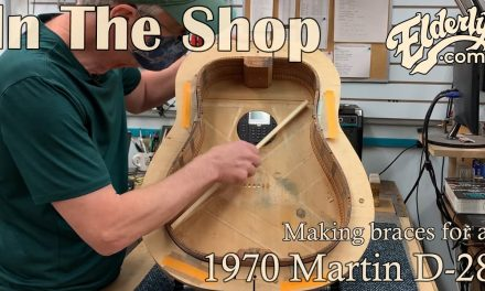 In the Shop: Making braces for a 1970 Martin D-28 | Elderly.com