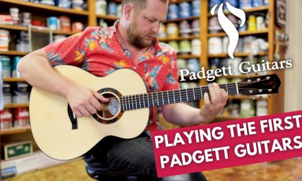 I got to play the first 2 Padgett Guitars.