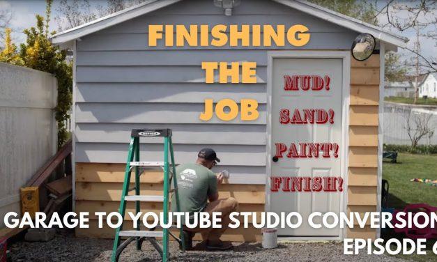 Garage Conversion Episode 6 I Sanding, Painting, Trim and Front Door!