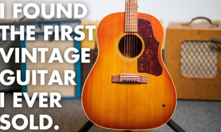 I found the first vintage guitar I ever sold…a stunning 1961 @Gibson TV J-45
