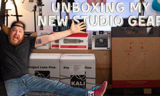 Unboxing my new studio gear.